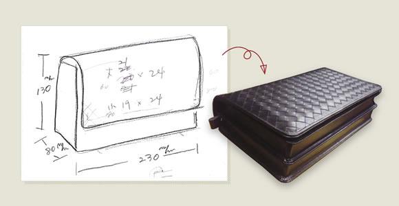 鉛筆書きの簡単なラフ案でも見積もりが可能です